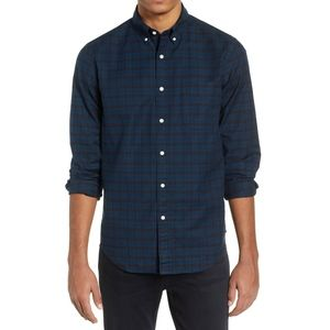 JCREW Slim Untucked Cotton Oxford Shirt in Plaid